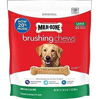 Milk-Bone Brushing Chews Daily Dental Dog Treats, Large, 25 Count