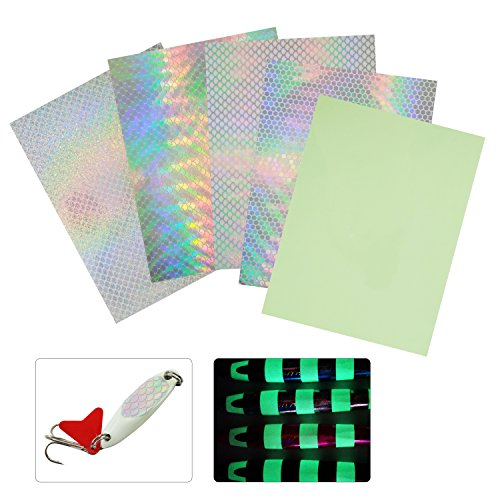 Hologram Fishing Lure Sticker Fish Scales Type Lifelike Realistic Artificial Holographic Seal Fishing Fly Tying Lures Crafts DIY (Set1-3bags)