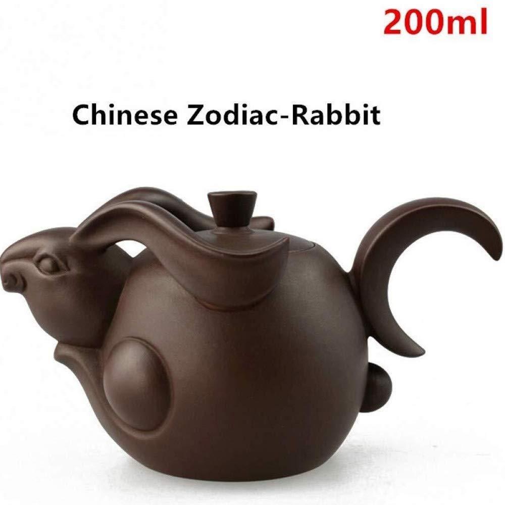 Teapot Chinese Zodiac Ceramic Tea Set, Teapot, Tea Sets, Home Decoration Kits Kung Fu Tea Tea (Color : Brown) by North cool