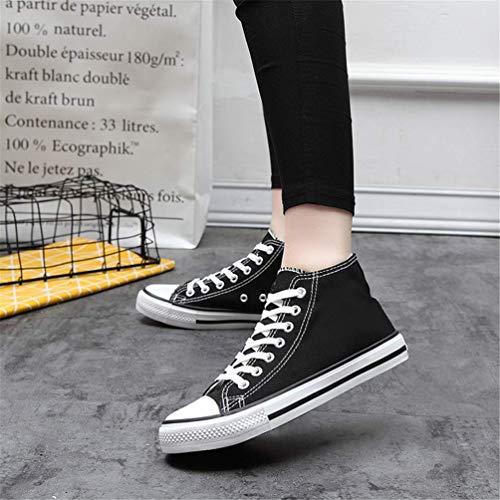 di Unisex Lace Tela High Qianliuk Scarpe Scarpe Nero Sneakers Mocassini Casual Top Up Scarpe 5qYaHax