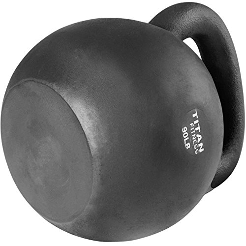 Cast Iron Kettlebell Weight 90 lb Natural Solid Titan Fitness Workout Swing by Titan Fitness (Image #4)