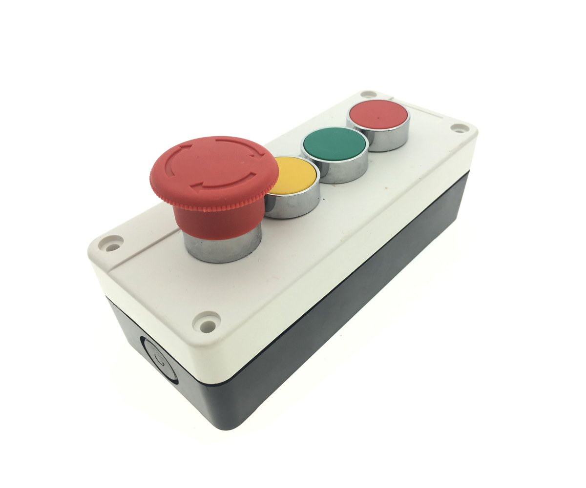 Ac 240v 3a 40mm Red Mushroom Emergency Stop Nc Latching Push Button Details About Switch 250v Off On 1 Circuit Station Grey Panel