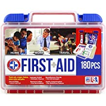 Be Smart Get Prepared 180 Piece First Aid Kit, 1.44 Pound