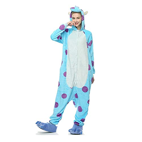 Molly Kigurumi Pijamas Traje Disfraz Animal Adulto Animal Pyjamas Cosplay Homewear XL Azul Blanco
