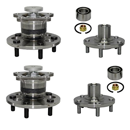 Detroit Axle - Front Wheel Bearing and Rear Hub Assembly Set for [1992-2001 Toyota Camry 2.2L] - 1999-2001 Toyota Solara 2.2L - [2002-2003 Toyota Solara 2.4L] 4-Wheel ABS Only