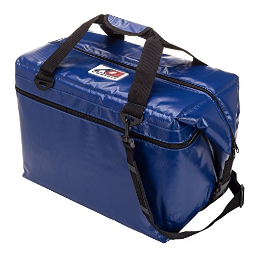 Bag Moto Cooler (AO Coolers Water-Resistant Vinyl Soft Cooler with High-Density Insulation, Royal Blue, 48-Can)
