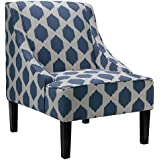 Cortesi Home Celene Accent Chair, Blue