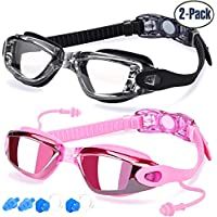 Swim Goggles, Pack of 2, Swimming Goggles for Adult Men...