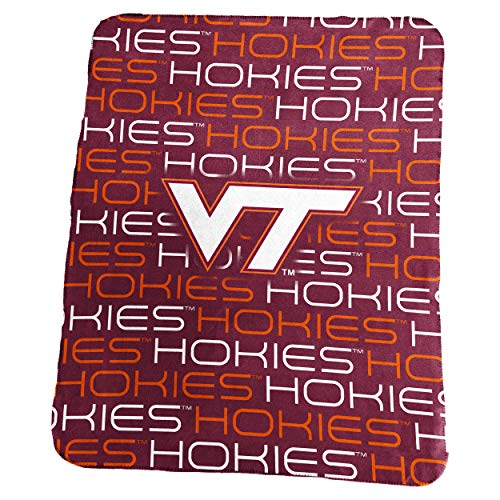 Logo Brands NCAA Virginia Tech Hokies Classic Fleece, One Size, Maroon