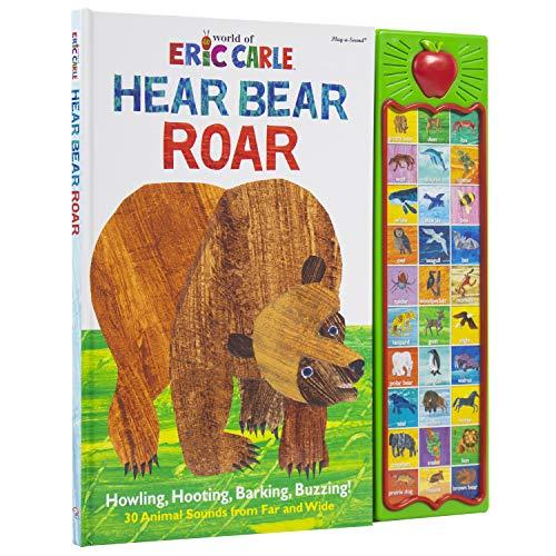 World of Eric Carle, Hear Bear Roar 30 Animal Sound Book - PI Kids (Play-A-Sound)