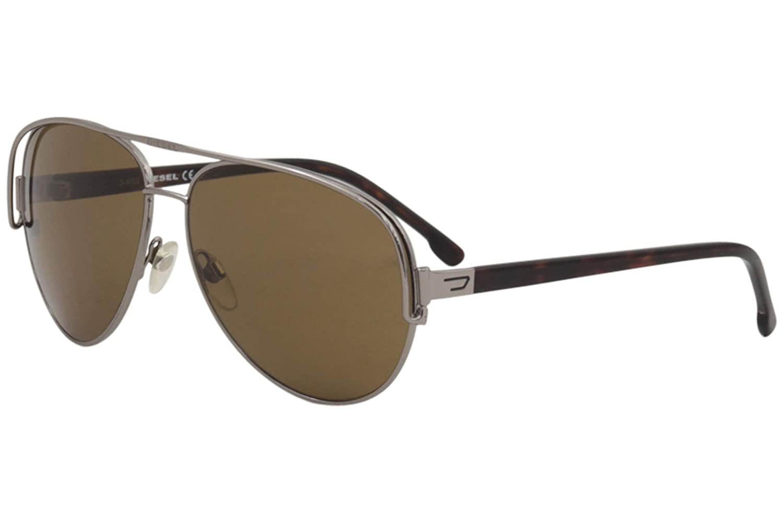 Diesel Mens DL0066 Metal Aviator Sunglasses BROWN 60