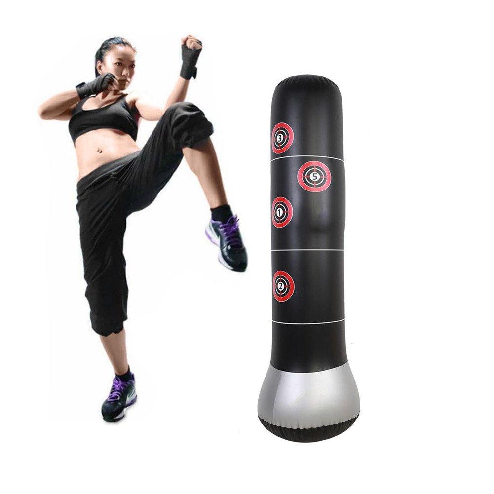 Vbestlife Fitness Boxing Sandbags,Inflatable Punching Kick Training Tumbler Bop Bag MMA Target Bag with Air Inflator Pedal Pump by Vbestlife