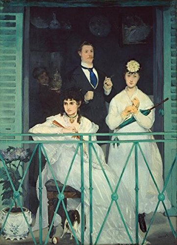 Oil Painting 'douard Manet-The Balcony,19th Century' Printing On Perfect Effect Canvas , 12x17 Inch / 30x42 Cm ,the Best Study Decoration And Home Artwork And Gifts Is This High Definition Art Decorative Canvas Prints