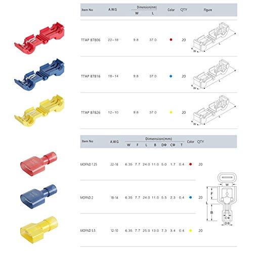 120 ST Wirefy T-Tap elektrische Steckverbinder Sortiment Schnelle ...