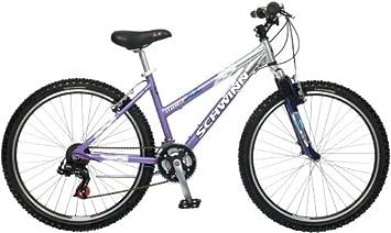 Schwinn Ridge AL - Bicicleta de montaña para Mujer (Ruedas de 66 cm), S2665, Morado y Plateado, Talla única: Amazon.es: Deportes y aire libre