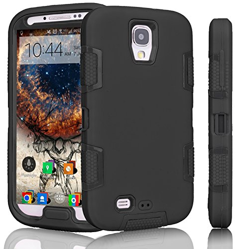 Shockproof Hybrid TPU Case for Samsung Galaxy S4 (Black) - 2