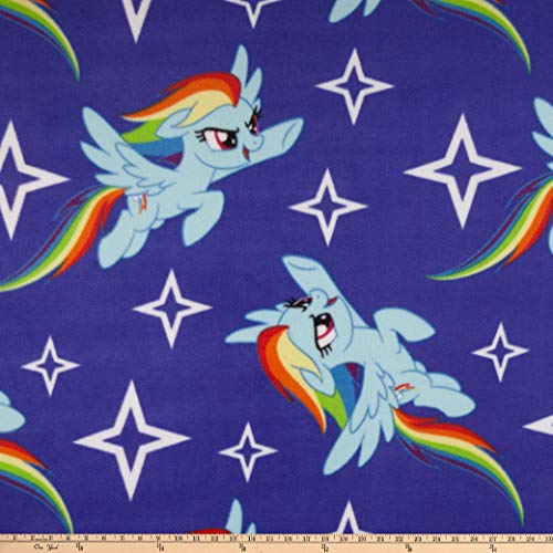 Springs Textiles Hasbro My Little Pony Fleece Rainbow Dash Toss Blue Fabric Fabric by the Yard