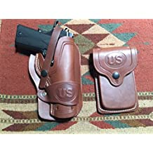 Colt Model 1911 Wild Bunch Style Leather Holster & Magazine Pouch