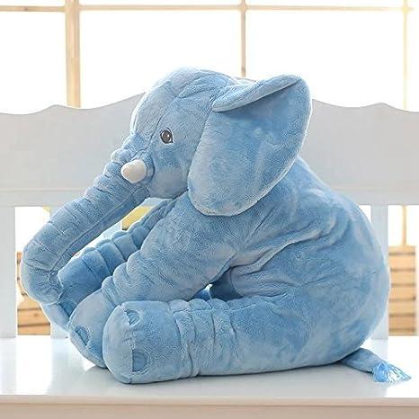 Beige, L Crazy lin Elephant Pillow Toddler Sleeping Elephant Stuffed Plush Pillows Soft Plush Stuff Toys for Baby
