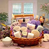 Luxurious Lavender Deluxe Spa Bath and Body Basket