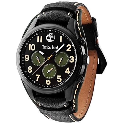 Timberland Reloj Analógico para Hombre de Cuarzo con Correa en Cuero TBL.14477JSB-02: Amazon.es: Relojes