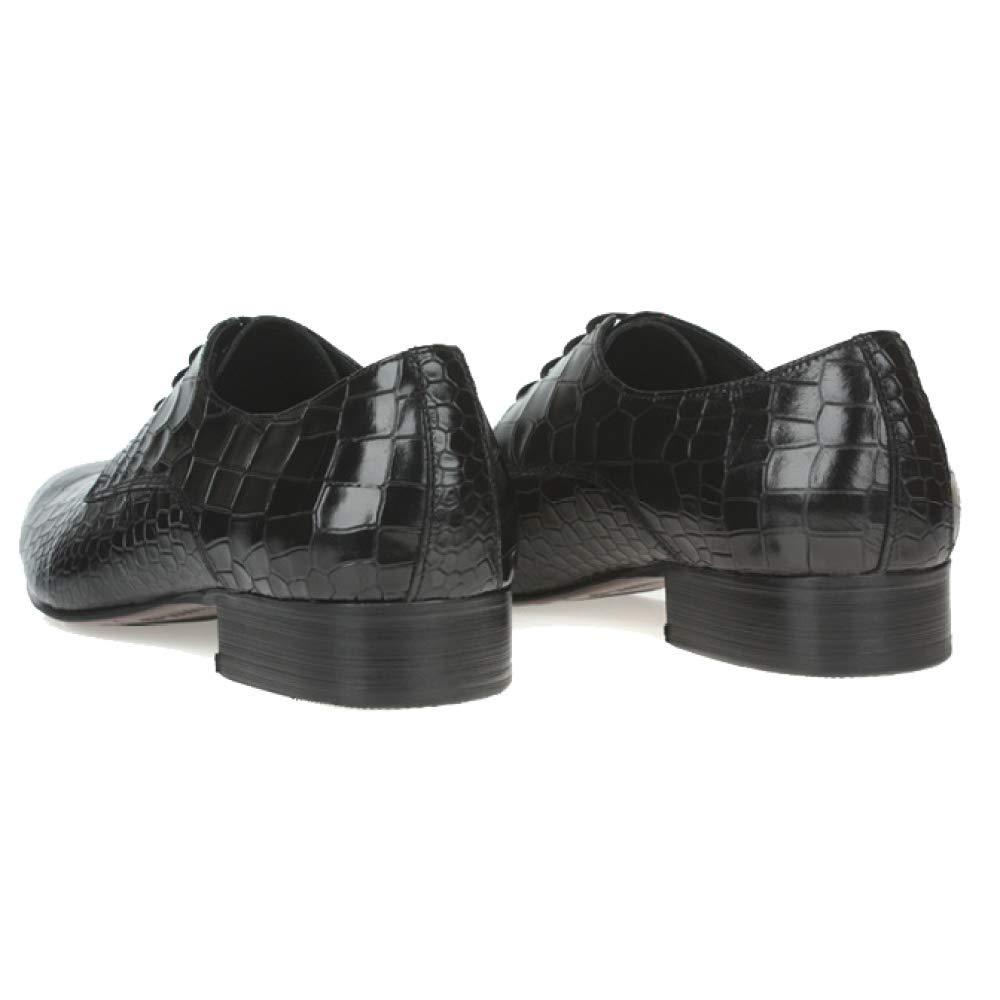 NIUMT Herren Lederschuhe Britischen Stil Schnürschuhe Breathable Personalisierte Muster Mode Wies Breathable Schnürschuhe schwarz 243020