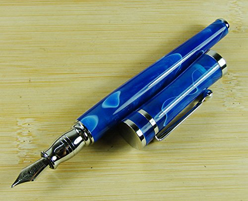 fuliwen-2037-fountain-Pen-set-Blue-and-Brown-Color