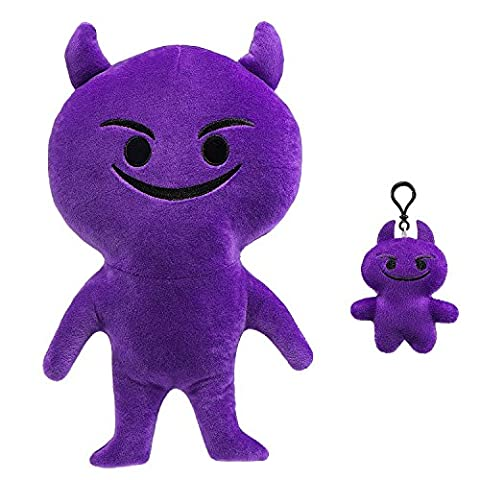 """Emoji Plush Toy Doll, 12"""" Soft Plush Stuffed Pillow Party Bag Good Gifts , Novelty Kids Buddies Soft Activity Baby Toy for Home Birthday Party Decoration Supplies favors. Sets of 2 Purple Devil"""