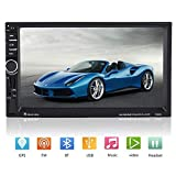 Qiilu Universal Car Stereos Video 7inch Double DIN MP5 Player