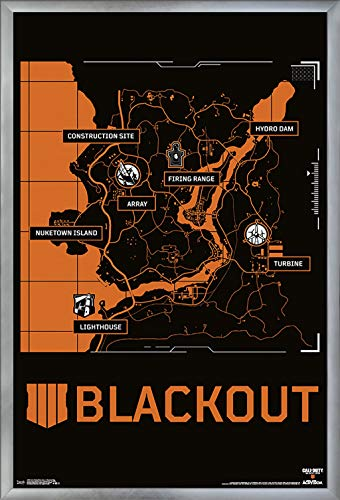 Trends International Call of Duty Black Ops 4 - Blackout Map Wall Poster 24.25