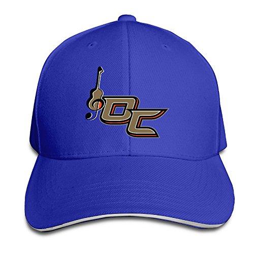 unisex-musical-instruments-royalblue-hats-adjustable-sandwich-peaked-cap-one-size