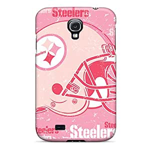 Protective Hard Phone Covers For Samsung Galaxy S4 With Customized High Resolution Pittsburgh Steelers Series SherriFakhry