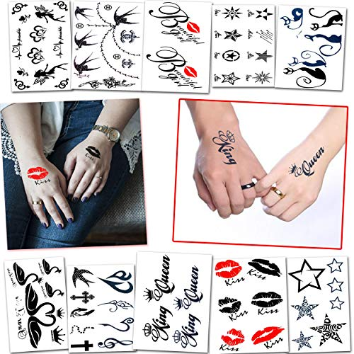 60+ Temporary Tattoos for Women and Adults - Great for Bachelorette Party, Adult Party and Bridal Shower - For Adults and Teens Tattoos for Arms Legs Shoulder or Back -