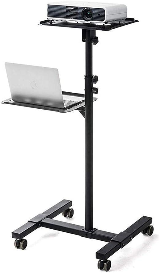 NNDQ Soporte móvil Negro para proyector móvil, portátil Ajustable ...
