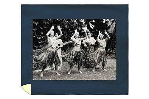 Hawaii - Hula Dancers Photograph (88x104 King Microfiber Duvet Cover) by Lantern Press