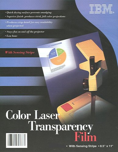 250 IBM Transparency Film Sheets for Color Laser Printers, With Sensing Stripe by IBM