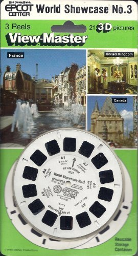 Walt Disney World - Epcot Center - World Showcase Set #3 - France United Kingdom Canada - 3d ViewMaster 3 Reel Set