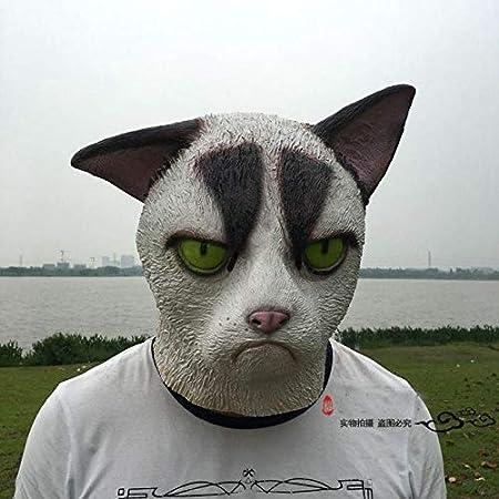 Black Mask White Garfield Fox Horse Head Cat Head Ball Bar Funny Mask Beige Amazon Co Uk Kitchen Home