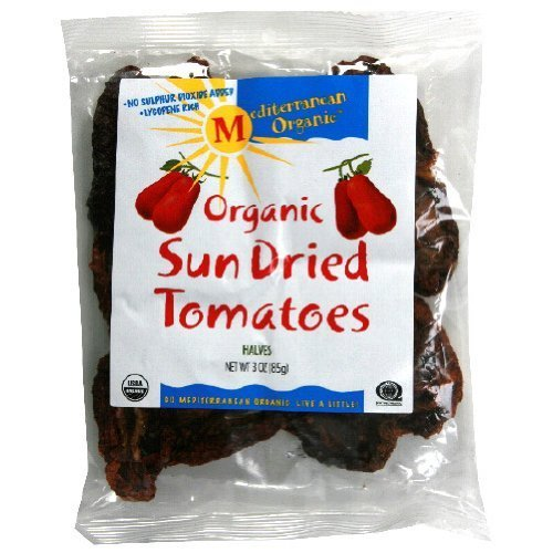 cs™,Organic Sundried Tomato Halves, 3-Ounce Bag (Pack of 12) (Mediterranean Tomato)