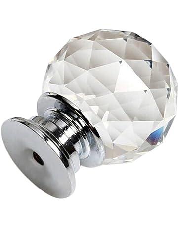 BIGBOBA Cristal Tirador Aleación de zinc plateado tirador moderna puerta cajón dellarmadio Tirador para