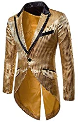 Men's Plus Size Sequins Tailcoat