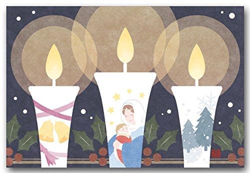[해외]친환경 일러스트 엽서 聖夜 촛불 크리스마스 카드 / Easy illustration postcard holy Night Candle Christmas card