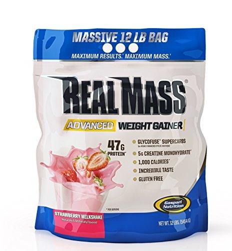Gainer Strawberry Milkshake (Gaspari Nutrition Real Mass Advanced Weight Gainer, Strawberry Milkshake, 12 Pound by Gaspari Nutrition)