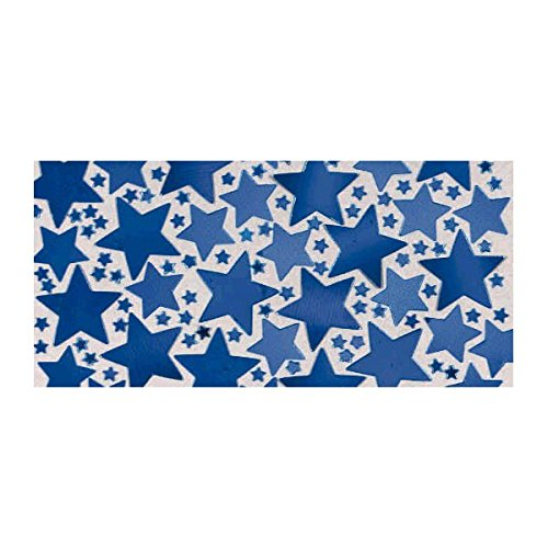 Party Fun Decorations Metallic Star Confetti Pack, Royal Blue, Foil, 0.25 (Royal Blue And Yellow Centerpieces)