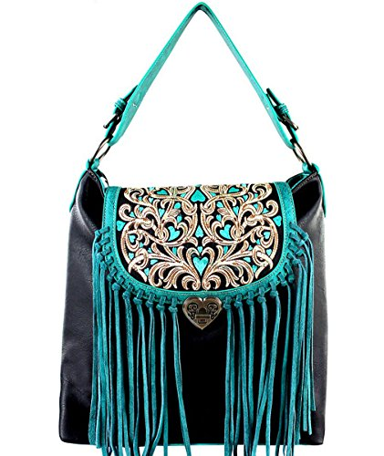West TQ Flap Concealed Black Top Fringe large w X Carry Montana Hobo dfxwPf