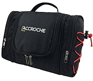 ACCROCHE Bret Toiletry Bag for Men and Women, Works as Best Shaving Dopp Kit, Portable Makeup Case, Hanging Washbag