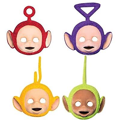 4Revêtement Party//Masque pour masques * Les Télétubbies * de Fête Anniversaire ou Devise Enfant Costume Enfants Anniversaire Les Télétubbies