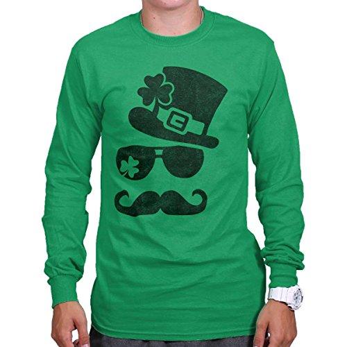ST Patricks Day Lucky Charm Funny Shirt Cool Irish Gift Patty Long Sleeve Tee (Charm Day Patricks Lucky)