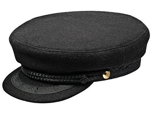 - Sterkowski Skippers Wool Cloth Cap US 7 1/2 Black