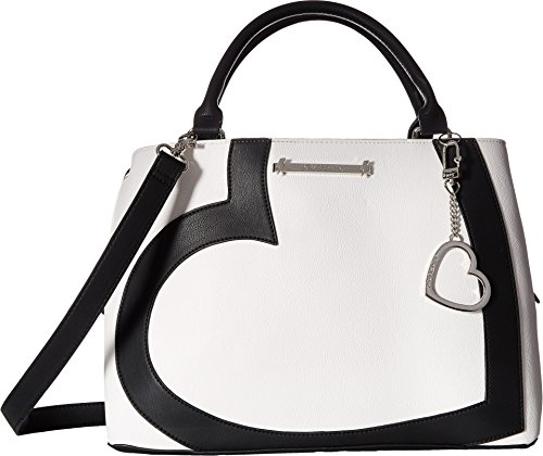 Betsey Johnson Women's Heart Satchel Bone/Black One Size